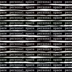 PERSONAL SPACE black stripes mask and social distancing