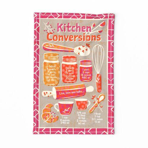 Kitchen Conversions tea towel
