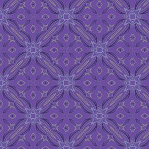 "Dark Lavender Rhythm Diamonds 8"""