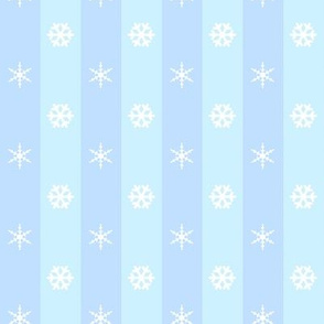 Blue Striped Snowflakes Pattern