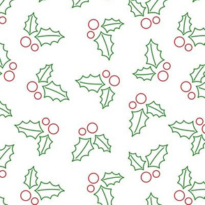 Holly Pattern - White