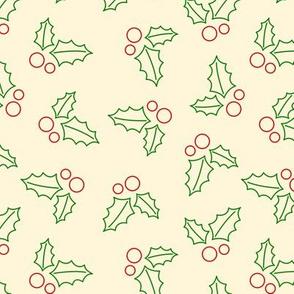 Holly Pattern - Yellow