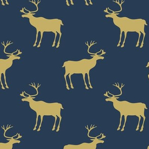 Naval and Gold reindeer