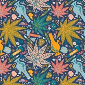 Medium scale / Marijuana and flowers