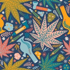 Large scale / Marijuana and flowers