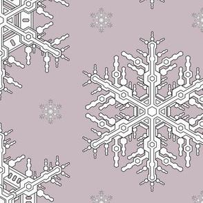 Snowflakes L Amethyst