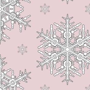 Snowflakes L Antique Pink