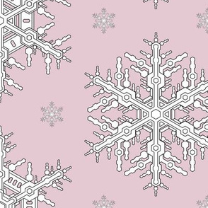 Snowflakes L Pink