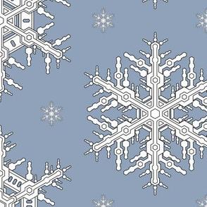 Snowflakes L Slate