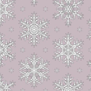 Snowflakes M Amethyst