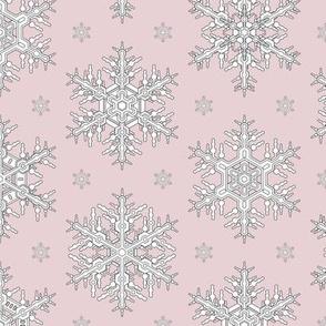Snowflakes M Antique Pink
