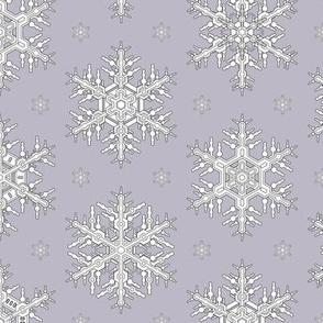 Snowflakes M  Lavender