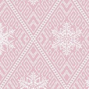 Cozy Knit Diamonds M Pink