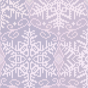 Cozy Knit L Purple