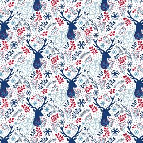 small version - blue deer