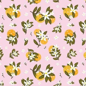 Pickleballs and Orange Blossoms (light Pink) SM