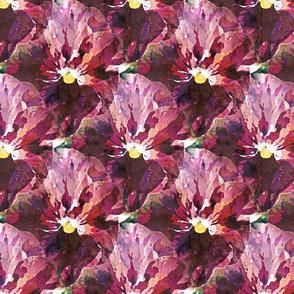 Purple paper pansy