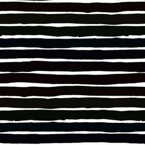 Thick black horizontal watercolour stripes on white