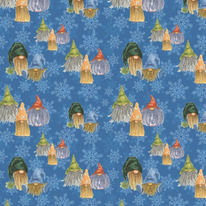 gnomes on snowflakes