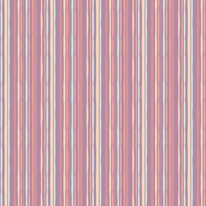 Wonky Lines in Pink, Purple and Blue Pattern