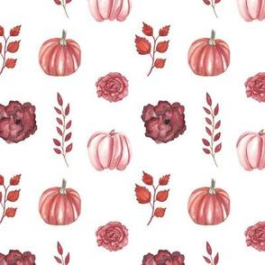 Autumn Pattern 2 White
