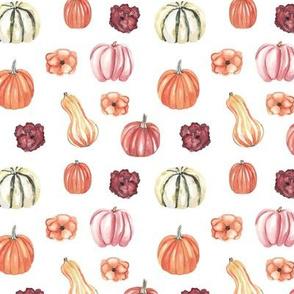 Autumn Pattern White