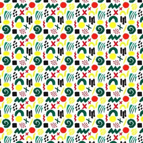 Colorful Abstract Pattern White