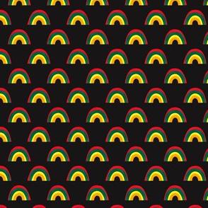Colorful Rainbow Pattern Dark