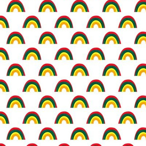 Colorful Rainbow Pattern White