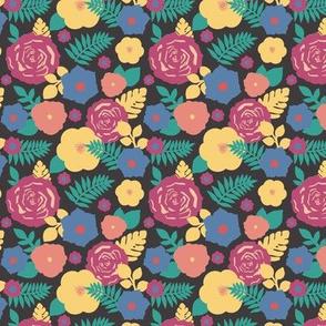 Floral Collage Dark