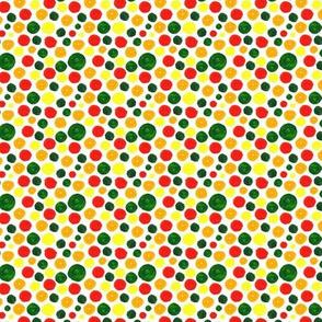 Many Dots Pattern White