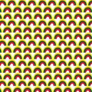 Mix Rainbows Pattern White
