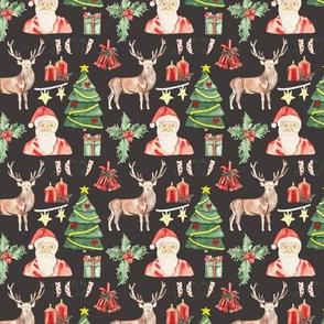 Christmas Bells Pattern Dark