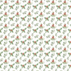 Christmas Pattern On White
