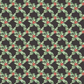 Holly Pattern On Dark