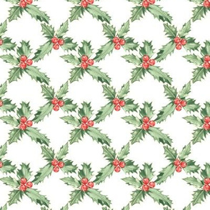 Holly Pattern White