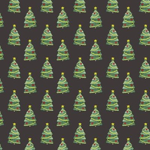 Christmas Tree Pattern On Dark