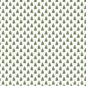 Christmas Tree Pattern White
