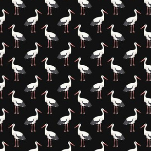 Stork Pattern On Dark