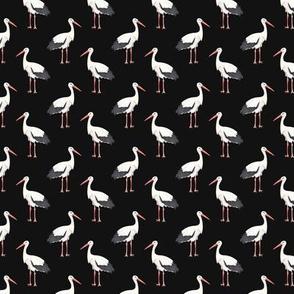 Stork Pattern On Dark