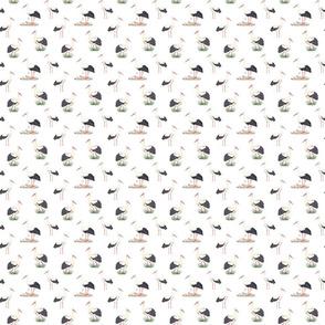 Stork Pattern On White