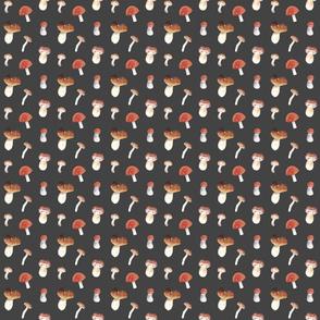 Mushroom Pattern On Dark