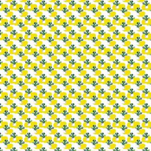 Big Cactus Pattern On White