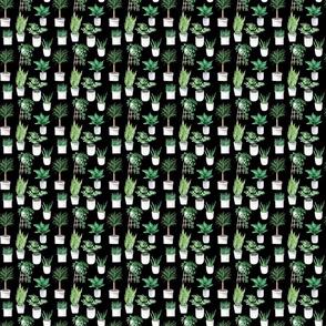 Leaves Plants Pattern On Dark
