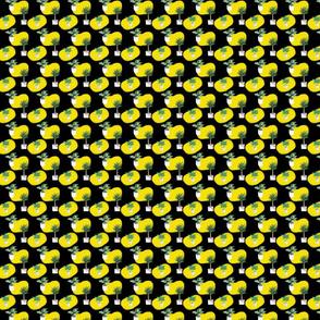 Yellow And Plants PatternOn Dark