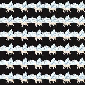 Bear Pattern On Dark