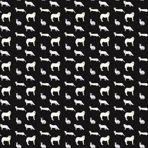 Fox Wolf Pattern On Dark
