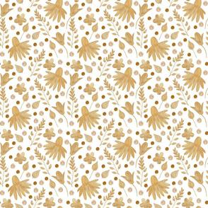 Gold Mix On White