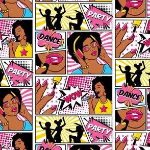 african american girls pop-art smaller scale