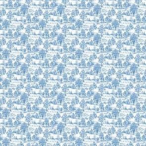 Mini Toile Blue ©2012 by Jane Walker